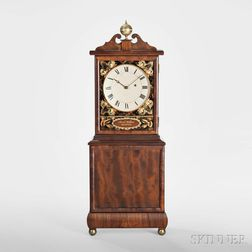 Aaron Willard Mahogany Shelf Clock
