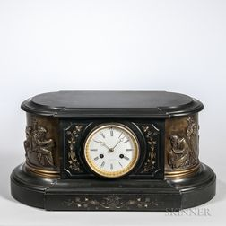 Tiffany & Co. Belgian Slate Mantel Clock