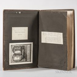 Stevenson, Robert Louis (1850-1894) Dictionary of National Biography, Ex Libris Stevenson, with Bookplates and Annotations, Two Volumes