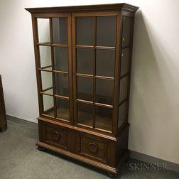 Glazed Oak Cabinet