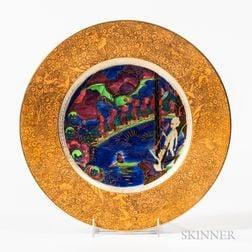 Wedgwood Fairyland Imps on a Bridge   Plate