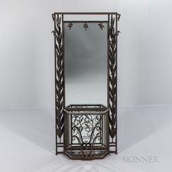 Art Deco Wrought-iron Hall Stand
