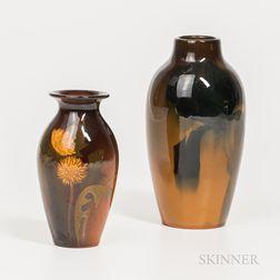 Two Rookwood Pottery Standard Glaze Vases