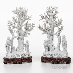 Pair of Blanc-de-Chine Sculptures