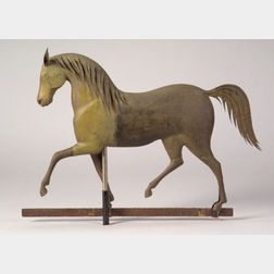 "Cast Zinc and Molded Copper ""Index"" Horse Weather Vane"