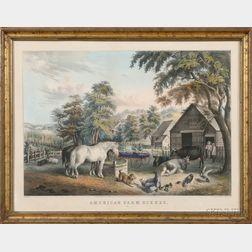 Nathaniel Currier, publisher (American, 1813-1888)      American Farm Scenes.  No. 3.