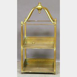 Brass Dumbwaiter.