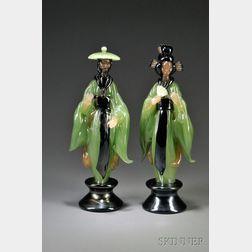 Pair of Figures in Oriental Dress