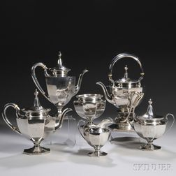 Six-piece Theodore B. Starr Sterling Silver Tea and Coffee Service