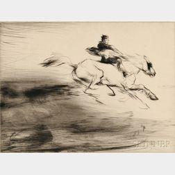 Edmund Blampied (British, 1886-1966)      Three Genre Scenes:  Resting