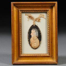Dressed Profile Portrait Miniature of a Gentleman
