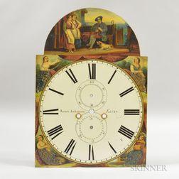 Elgin Paint-decorated Sheet Iron Clock Face