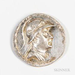 Bactria, Eucradites I AR Tetradrachm, Pushkalavati, 160-135 AD