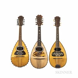Three Bowl-back Mandolins