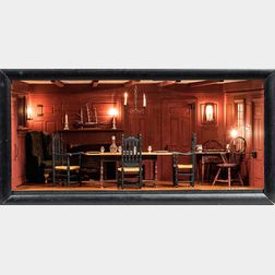Don Buckley 18th Century Dining Room Shadow Box Diorama