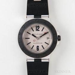 "Bulgari ""Diagono"" AL 38 TA Man's Aluminum Automatic Wristwatch"