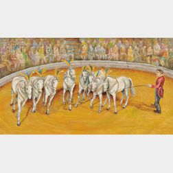 American School, 20th Century      White Horses