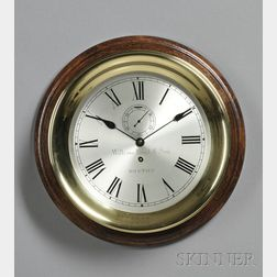 Brass Marine Wall Clock by the Waltham Clock Company