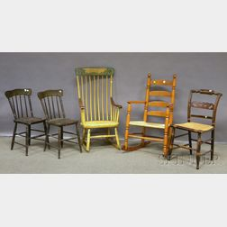 Five Assorted Wood Chairs