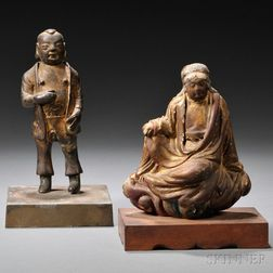 Figures of Guanyin and a Man