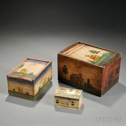 Three Paint-decorated Boxes