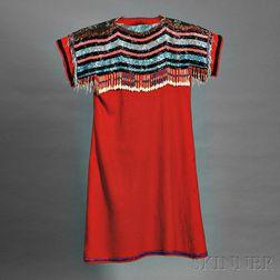 Blackfoot Beaded Cloth Woman's Dress