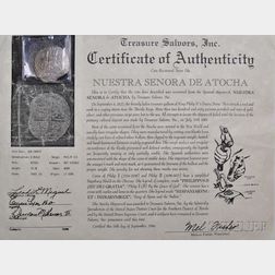 Atocha Philip III Eight Reale Coin, Grade Three