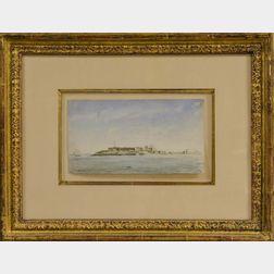 Reynolds Beal (American, 1866-1951)      Governor's Island, Boston Harbor 1885