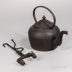 Cast Iron Kettle and Wrought Iron Kettle Tilter
