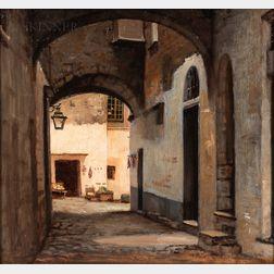 William Morris Hunt (American, 1824-1879)      San Remo