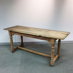 Country Turned Pine Harvest Table