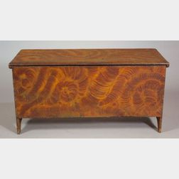 Pine Fancy Painted Six-board Chest