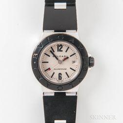 "Bulgari ""Diagono"" AL 38 TA Lady's Aluminum Automatic Wristwatch"