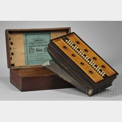Abraham Prescott & Son Rosewood Veneer and Tiger Maple Melodeon