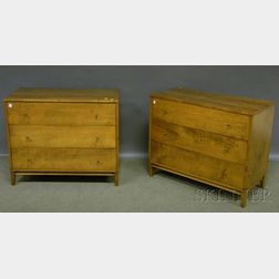 Pair of Paul McCobb Planner Group Maple Three-drawer Chests