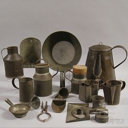 Group of Tin Domestic Items