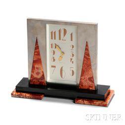 A. L'Emeraude Art Deco Clock