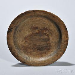 Small Oak Treen Plate