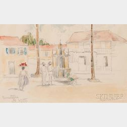 Reynolds Beal (American, 1866-1951)      Two Works on Paper: Basseterre, St. Kitts