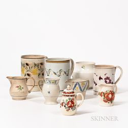 Group of Creamware and Pearlware