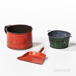"Red-painted Tin Cup ""My Boy,"""