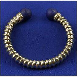 18kt Gold and Lapis Lazuli Torque Bracelet