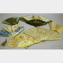 Six 18th and 19th Century Lady's Hand Fans