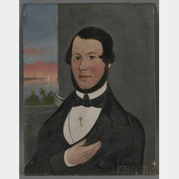 William Matthew Prior (American, 1806-1873)      Portrait of Capt. Thomas W. Lewis, Owner and Master of the Bark Silver Cloud