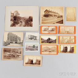 Thirteen Photographs of Telegraph Buildings