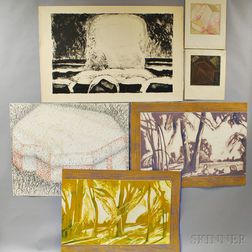 Large Group of Unframed Works on Paper