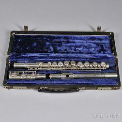 American Silver Flute, W.R. Meinell, New York