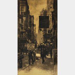 Galen Perrett (American, 1875-1949)      The Shoe Repairers, Boston