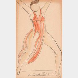 Abraham Walkowitz (American 1878-1965)      Isadora Duncan