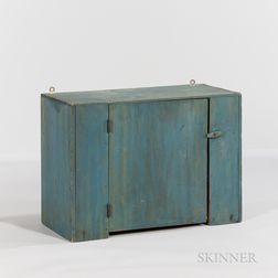 Small Blue Hanging Cupboard